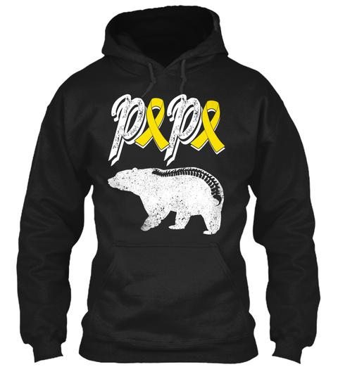 Popo Black T-Shirt Front