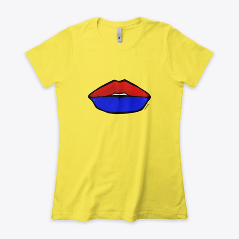 The Colors Of Love Vibrant Yellow T-Shirt Front