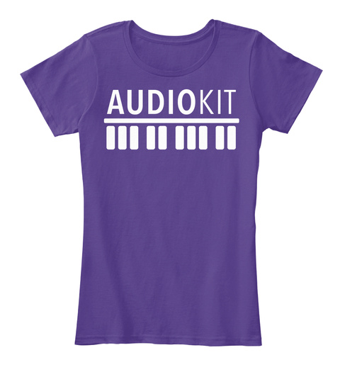 Audio Kit Purple T-Shirt Front