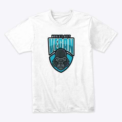 World's Best Vegan White T-Shirt Front