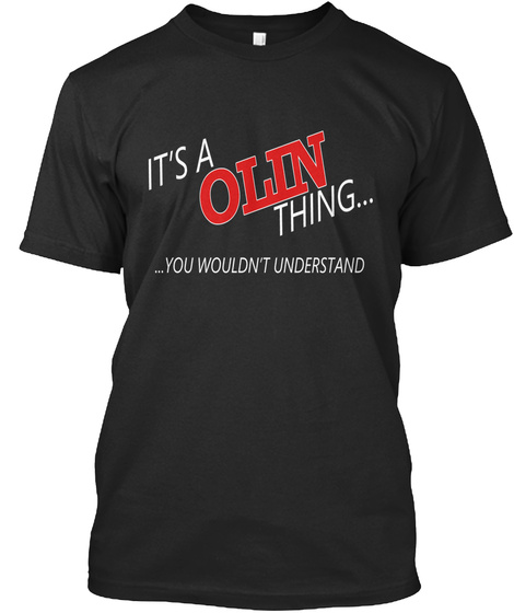 Olin Special Tees Black T-Shirt Front