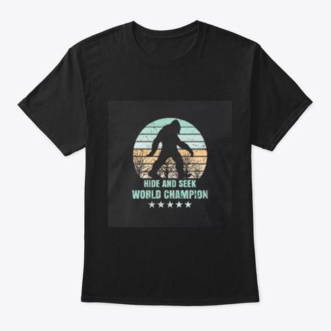 Bigfoot Black T-Shirt Front