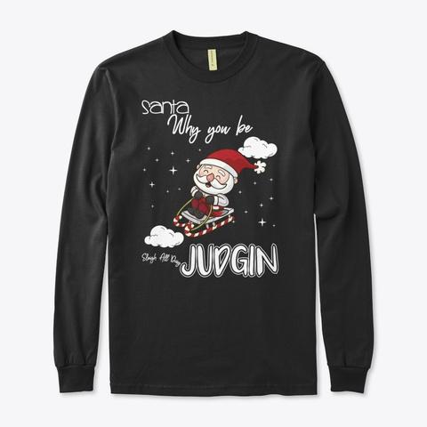 Christmas Holiday Sweatshirt Black T-Shirt Front