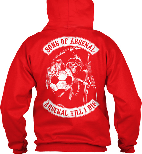Sons Of Arsenal Arsenal Till I Die Fire Red T-Shirt Back