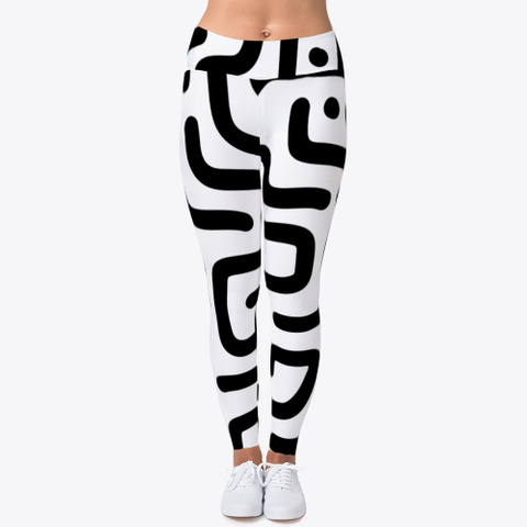 Geometric Lines Pattern Leggings Standard T-Shirt Front