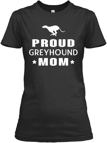 Greyhound Black T-Shirt Front