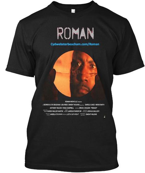 Roman Cydwebsterbeacham.Com/Roman Black T-Shirt Front