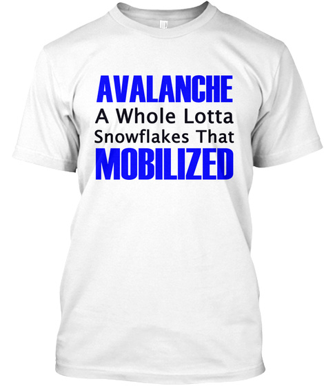 Avalanche White T-Shirt Front