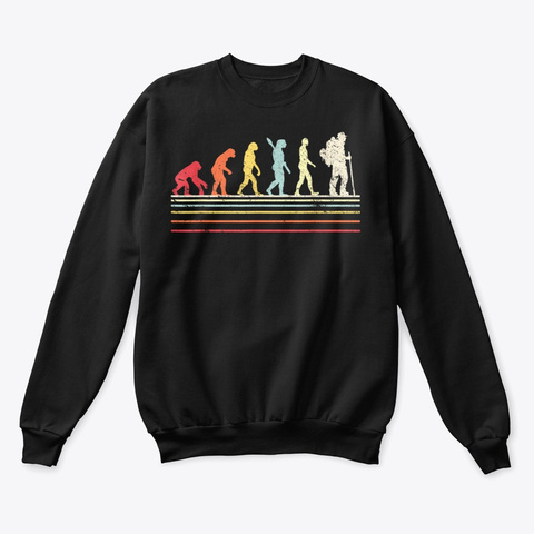 Hiking Shirt Retro Style Evolution Shirt Black Kaos Front