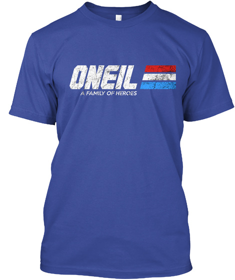Oneil: A Family Of Heroes Deep Royal T-Shirt Front