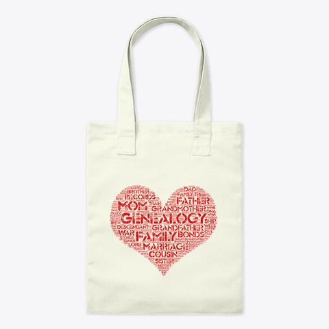 Love Genealogy Tote Bag Natural T-Shirt Front