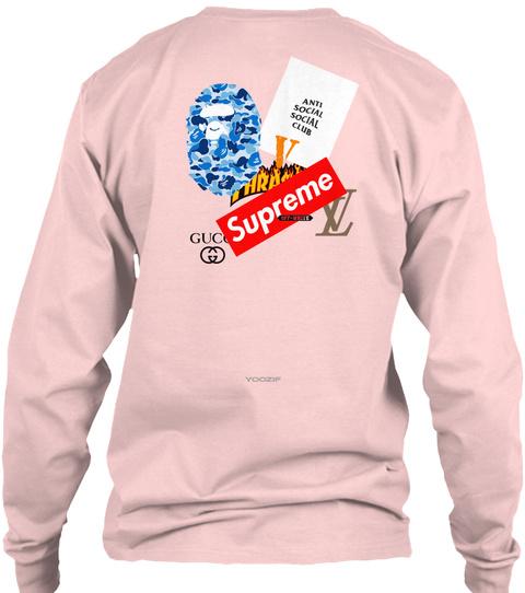 Yoozif Light Pink T-Shirt Back