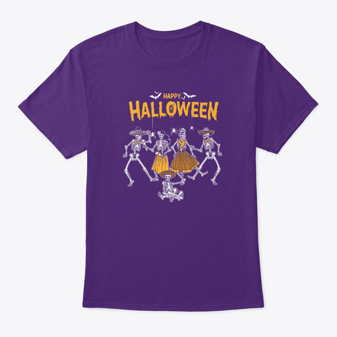 Dancing For Happy Halloween 2.0 T Shirt Purple T-Shirt Front