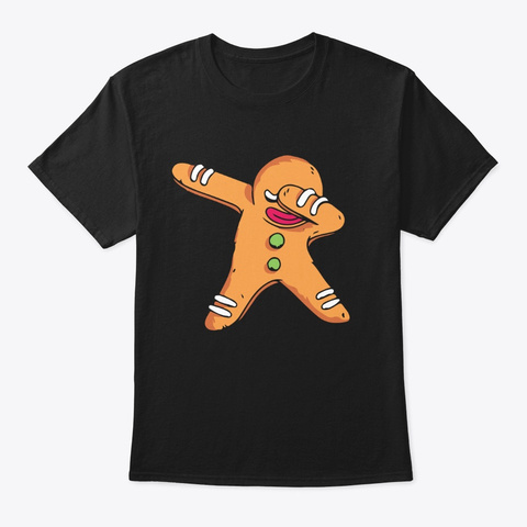 Funny Dabbing Christmas Black T-Shirt Front