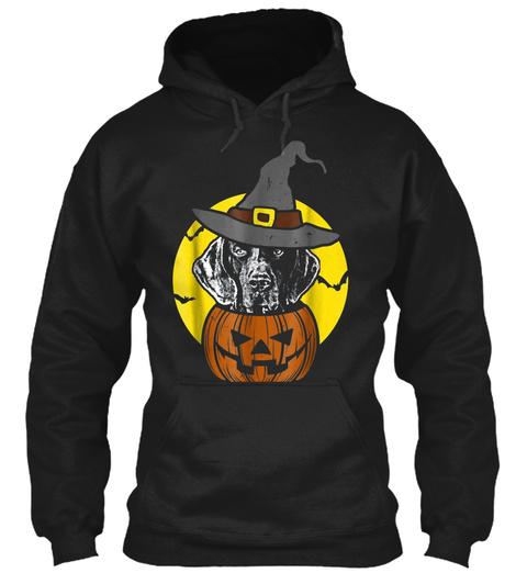 Mens German Shorthaired Pointer Pumpkin  Black T-Shirt Front