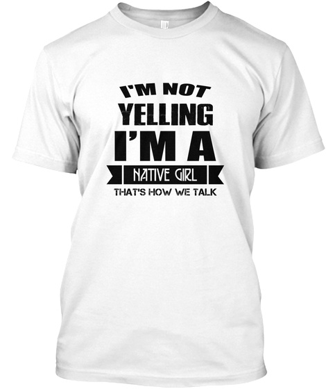 I'm Not Yelling Cancer   Tshirt Gift White T-Shirt Front