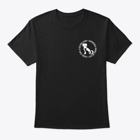 Abandoned Animal Rescue Black T-Shirt Front
