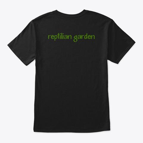 Reptilian Garden Merch Black T-Shirt Back