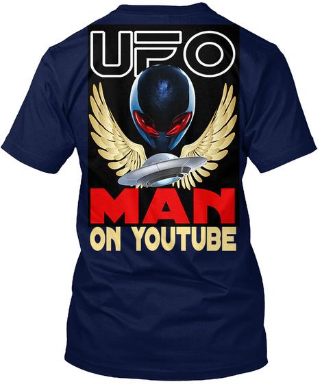 On Youtube Navy T-Shirt Back