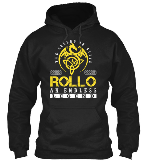 Rollo Black T-Shirt Front