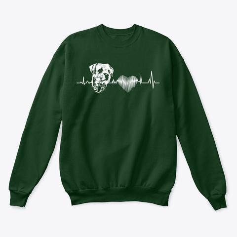 Border Terrier Funny Gift Tshirt   Dog L Deep Forest  Sweatshirt Front