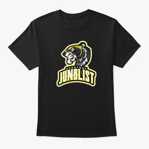 Junglist Drum And Bass Everyday Tiger Black T-Shirt Front