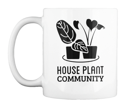 House Plant Community White T-Shirt Front