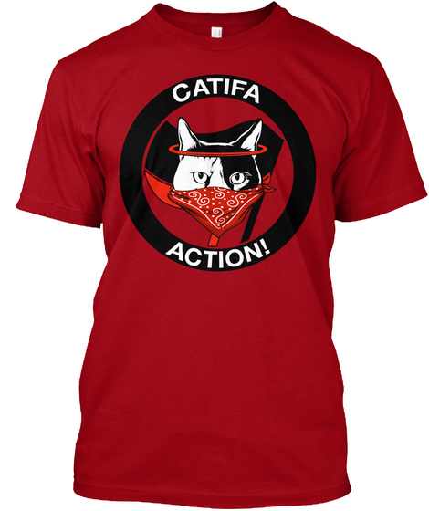 Catifa Action Shirt! Deep Red T-Shirt Front