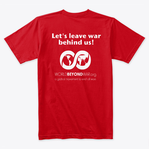 No To Nato. Yes To Peace. Red T-Shirt Back