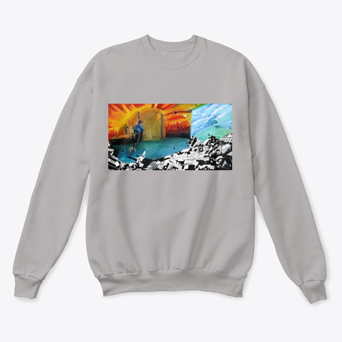 """""""Endlessly""""   Sweater Light Steel  T-Shirt Front"""
