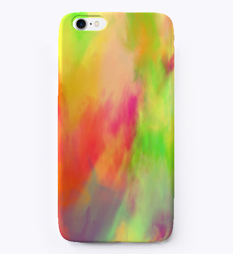 Colorful Watercolor Texture I Phone Case Standard T-Shirt Front