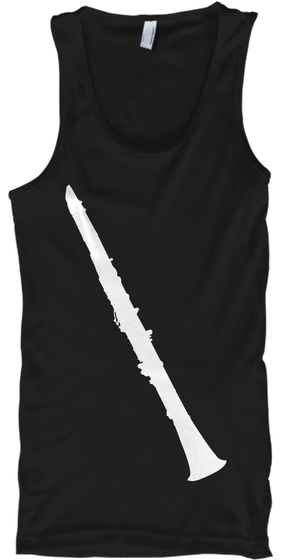 Clarinet Tank Top Black T-Shirt Front