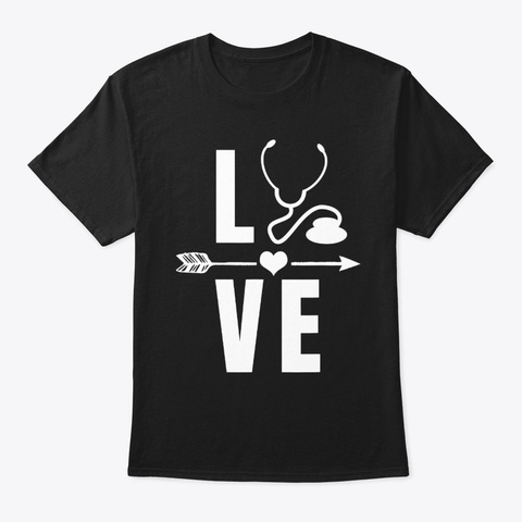 Medical Doctor Stethoscope Doctors Day Black T-Shirt Front