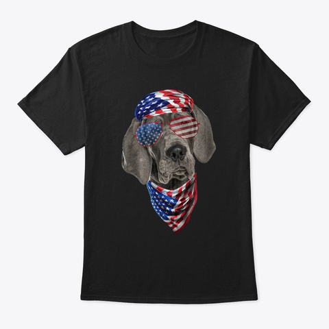 Great Dane American Vibe Black T-Shirt Front