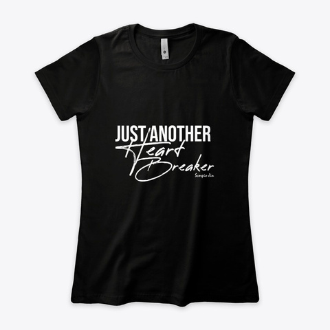 Just Another Heart Breaker Black T-Shirt Front