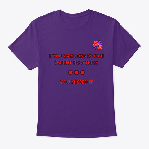 Staring Tee Purple T-Shirt Front