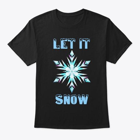 Snow Art Gift Design New Sweat,Shirt Black T-Shirt Front