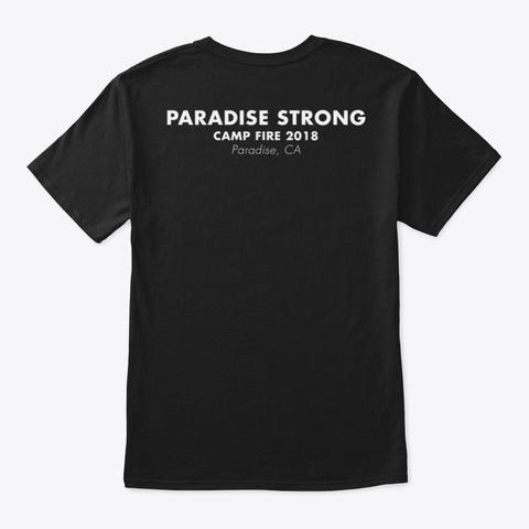 Camp Fire 2018 Black T-Shirt Back
