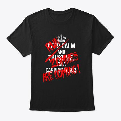Funny Cardiac Nurse Gifts Halloween Black T-Shirt Front