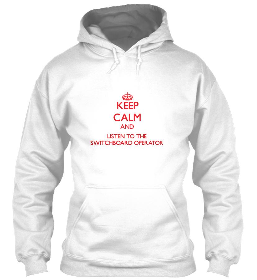 Keep Calm Listen Switchboard Operator LongSleeve Tee