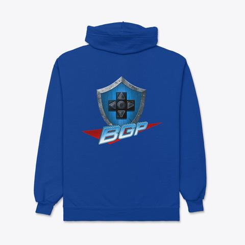 Bgp Zip Hoodie Deep Royal T-Shirt Back