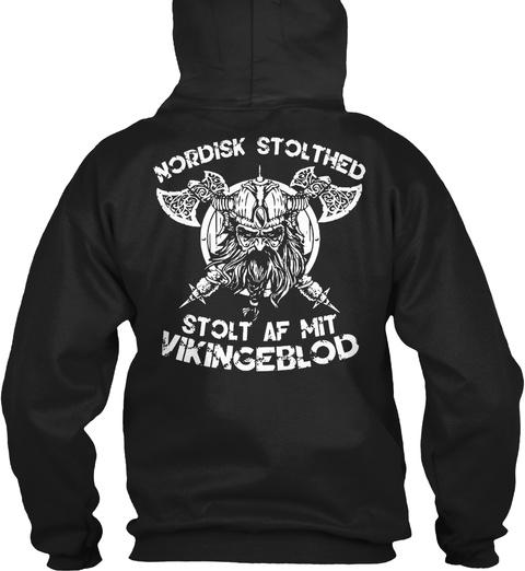 Viking   Odin   Norse   Valhalla Black Sweatshirt Back