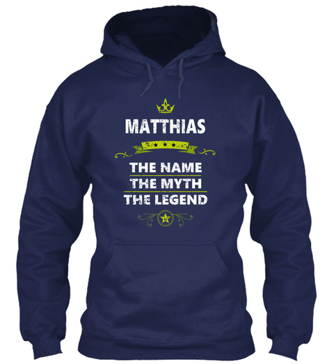 Matthias Navy T-Shirt Front