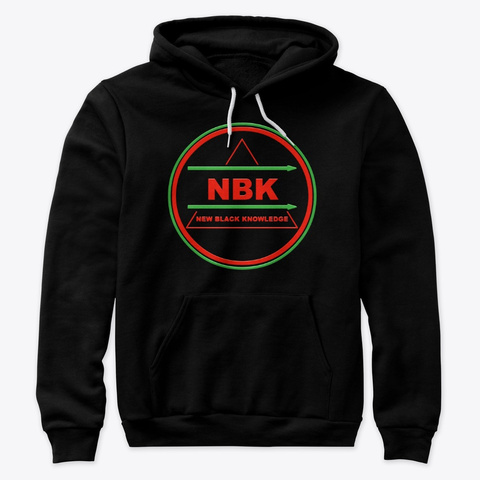 "Nbk ""Big Logo Hoodie""  Black T-Shirt Front"