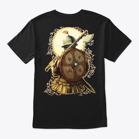 13th Century Varangian Vignette, 2 Sided Black T-Shirt Back