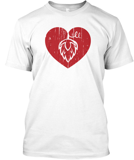 I Heart Hop  White T-Shirt Front