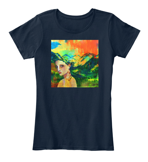 Force Of Nature  New Navy Women's T-Shirt Front