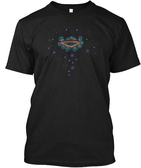 Ufo Black T-Shirt Front