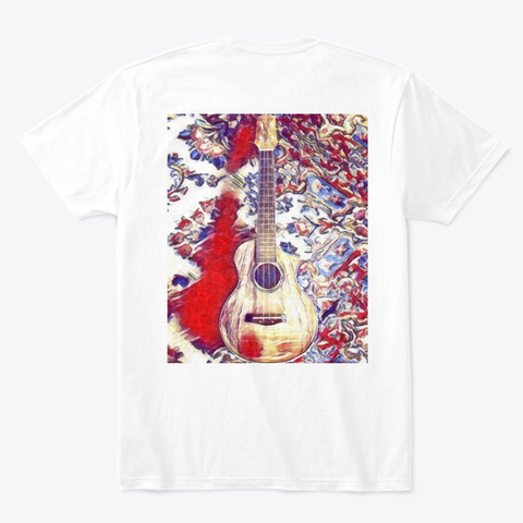 Fitted Color Hh Uke  White T-Shirt Back