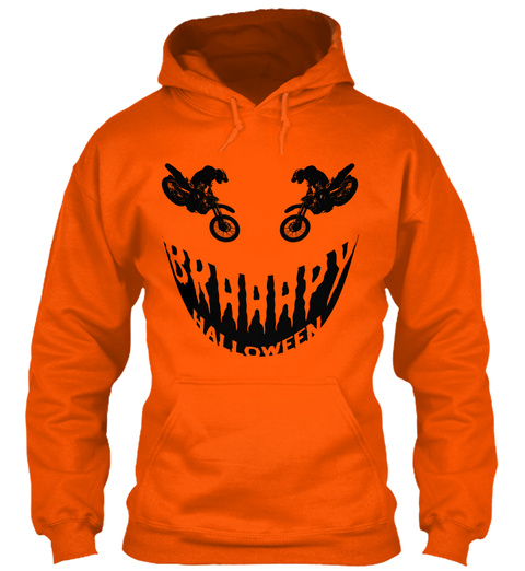 Braaap O Lantern Safety Orange T-Shirt Front
